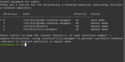 Set default terminal