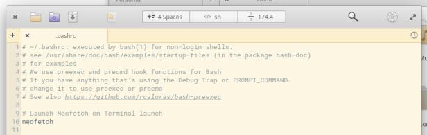 .bashrc in Code